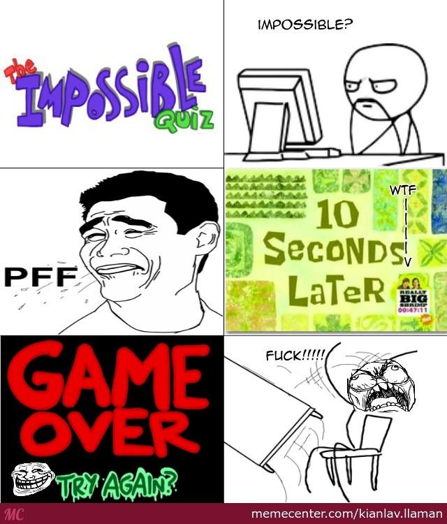 impossible quiz meme